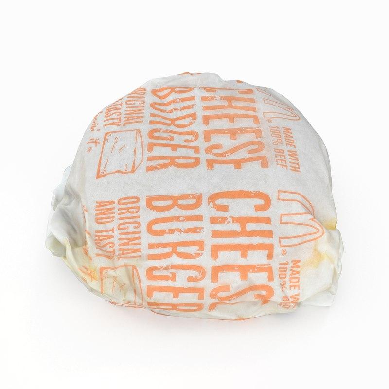 mcdonalds cheeseburger model