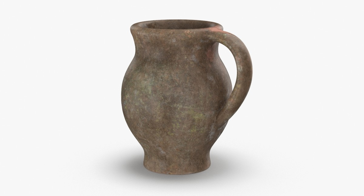 ceramic-pitchers---stout-grey 3D