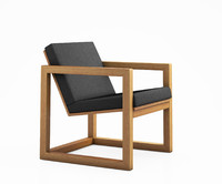 3D model framed armchair david
