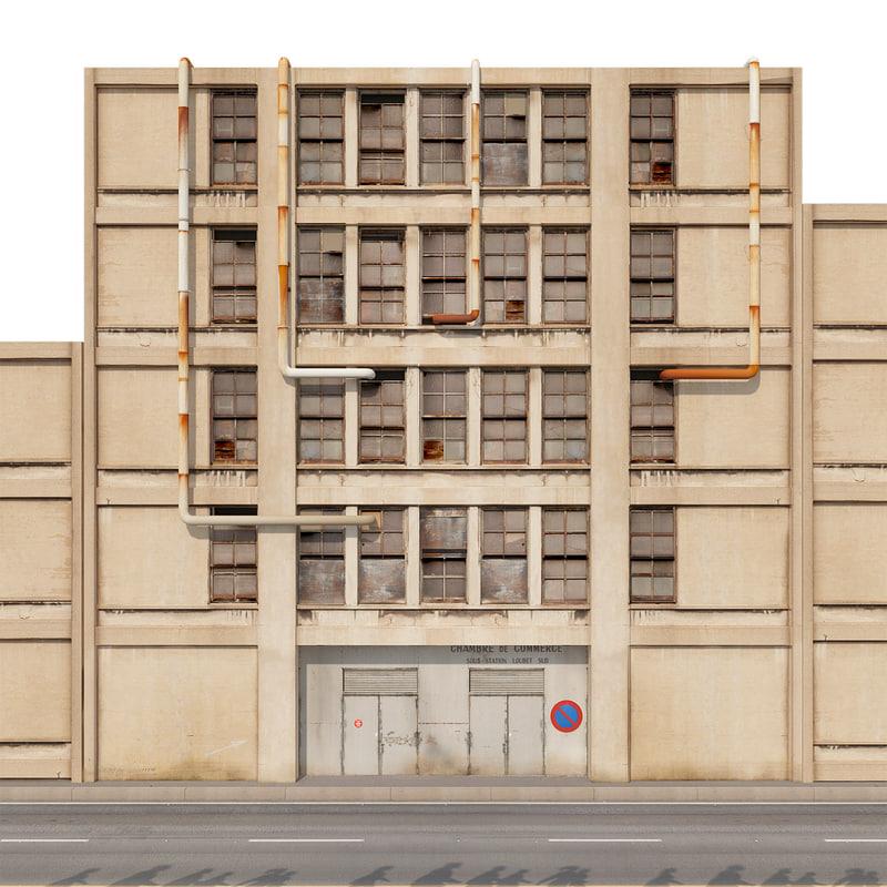 old industrial building 3D