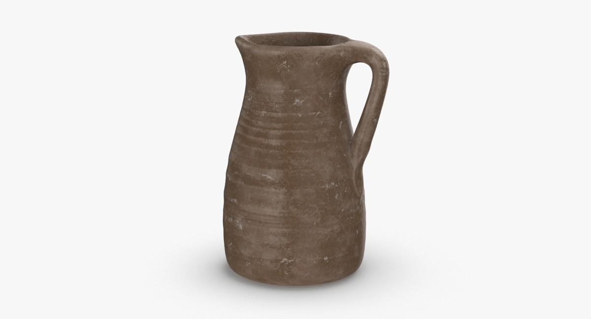 ceramic-pitchers---tall-light-brown 3D model