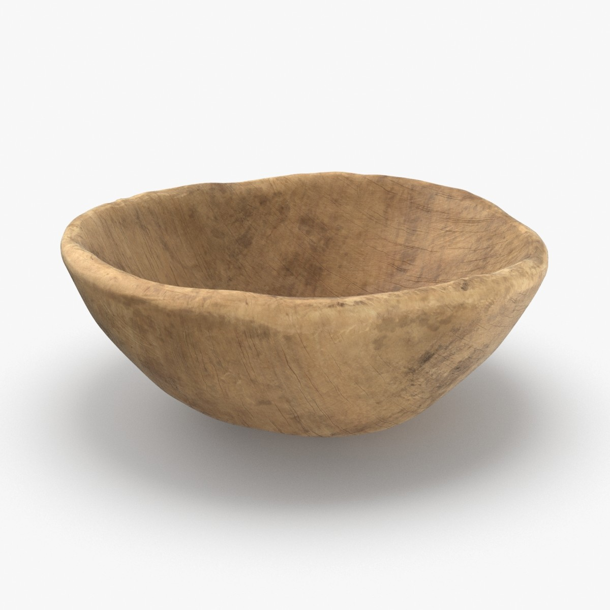 wooden-dishware---bowl 3D model