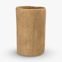 wooden-dishware---cup 3D model