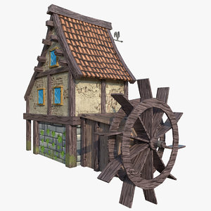 stylized cartoon house 3D model