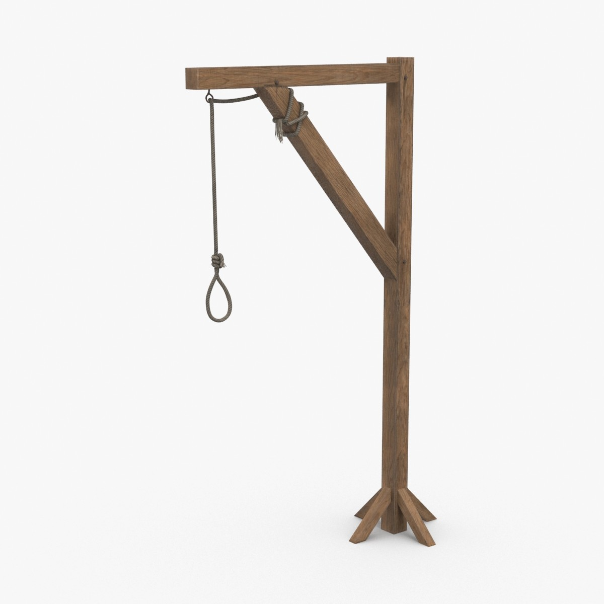 3D gallows-pole model