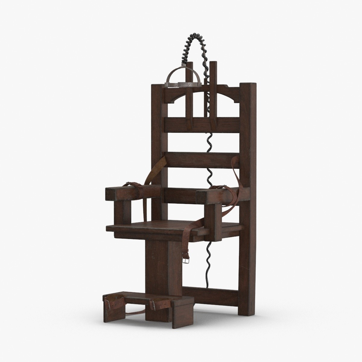 3D electric-chair---loose-straps model