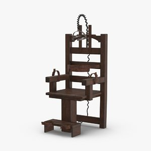 3D model electric-chair---tight-straps