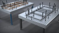 welding table 16 3D model