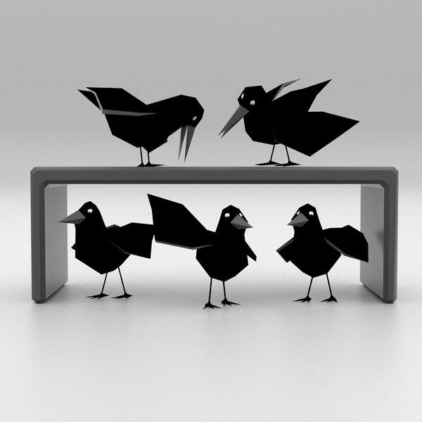cartoon birds 3D