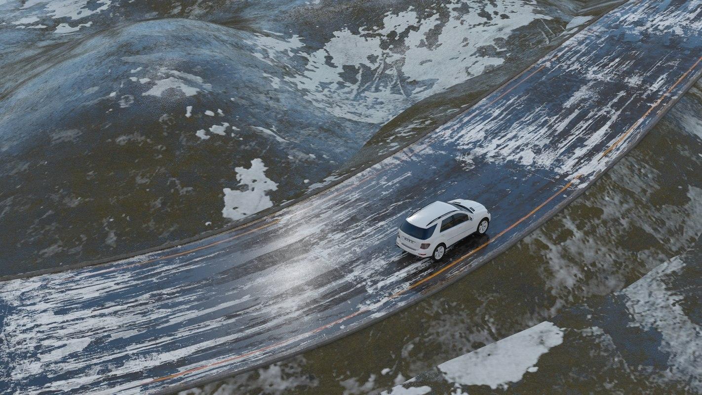 architectural seasons terrain 3D model