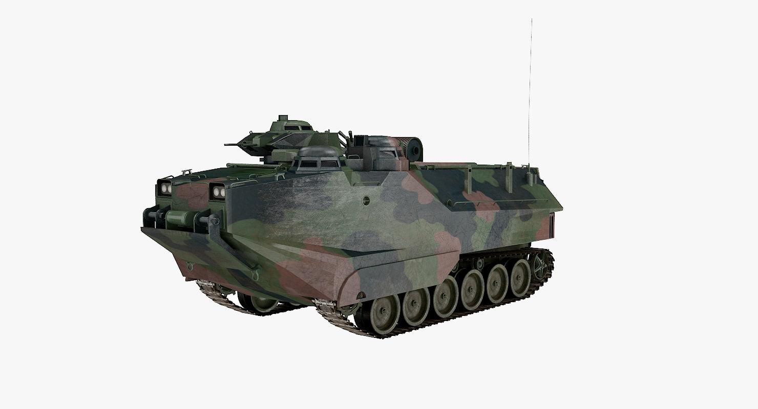 3D aav-7 pbr model