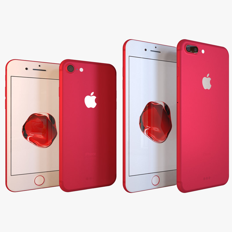 apple iphone7 7 red 3D model
