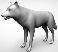 wolf basemesh sculpting 3D model