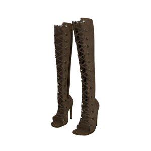 3D knee boots