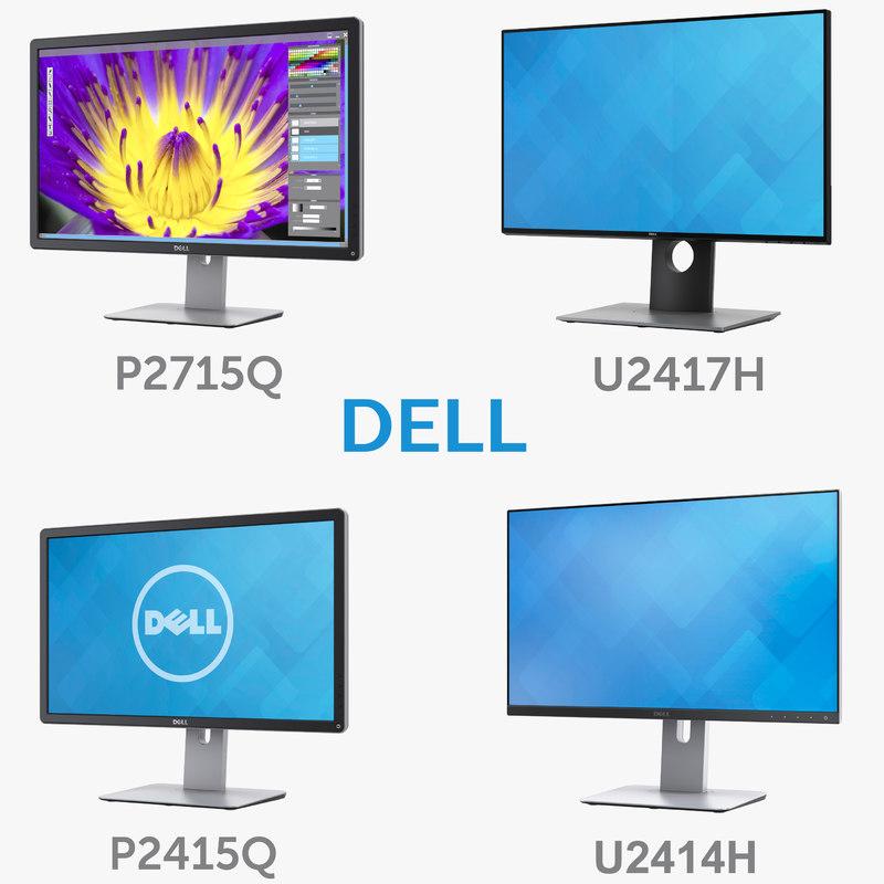 dell monitors 27 p2715q 3D