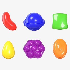 candy combo pack 3D model
