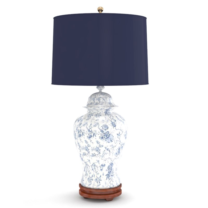 classic blue white table lamp model