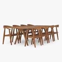 Wood dining table EMFURN