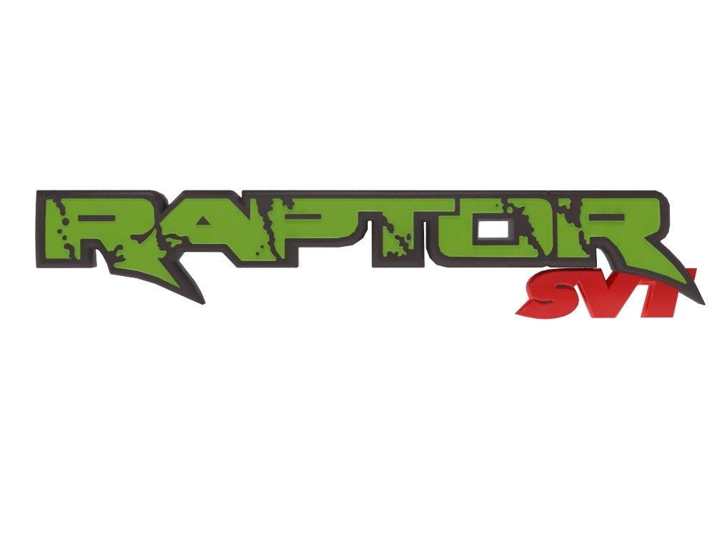 3D raptor svt emblem model