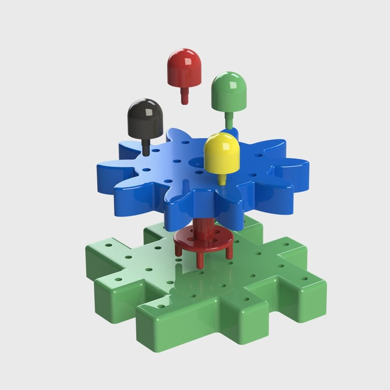 3D constructor toy model