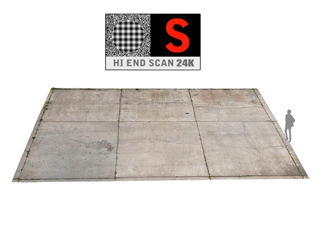 3D parking surface scanned model