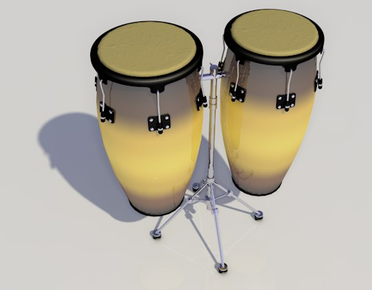 congas percussion 3D