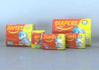 plastic diaper packs 3D model