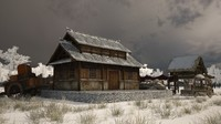 3D japan s ancient residential