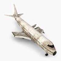 3D damage airplane