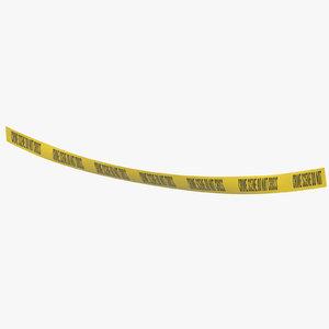 3D model crime scene tape 02