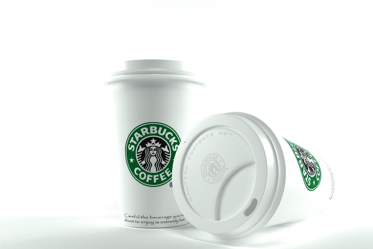 starbucks coffee 3D