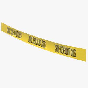 crime scene tape 03 3D model
