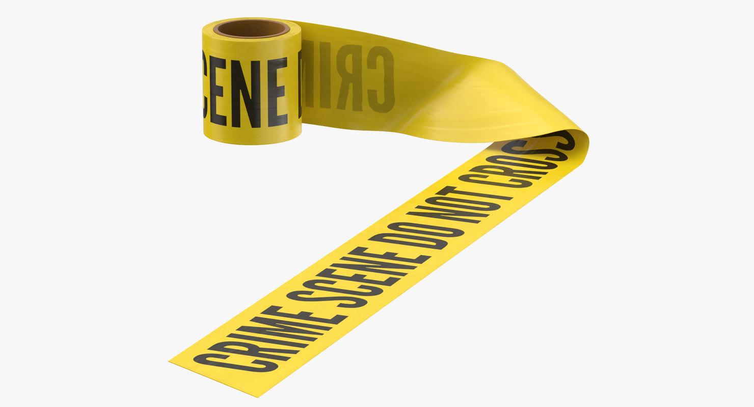 3D model crime scene tape 04