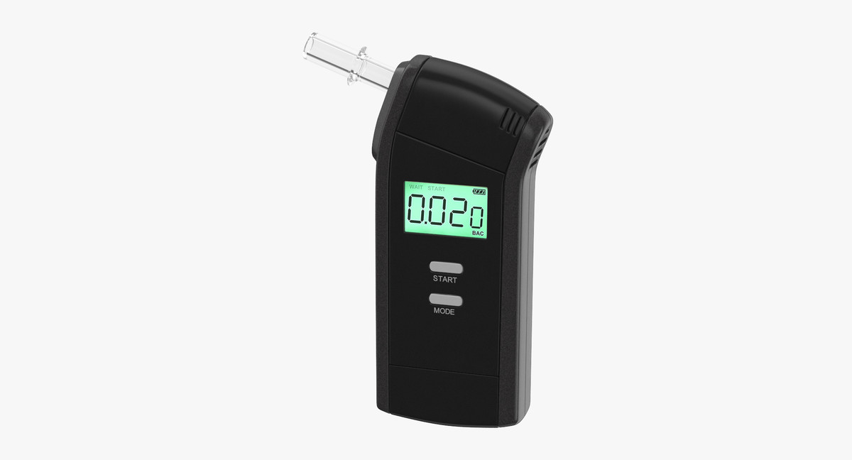 3D breathalyser breath model