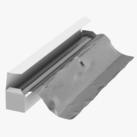 aluminium foil box open 3D model