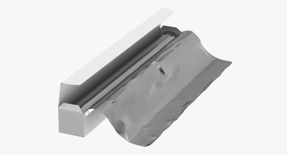 aluminium foil box open 3D model