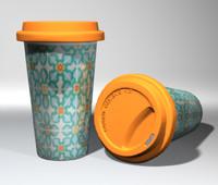 3D porcelain coffee cup