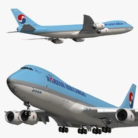 boeing korean air cargo 3D model