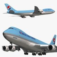 boeing korean air cargo 3D model