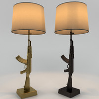 3D flos gun table lamp