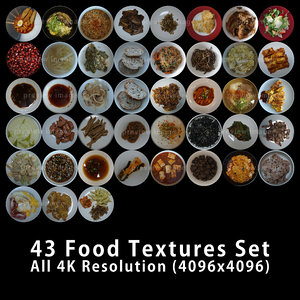 Foods On Dish 4K Texture Set 43 Images