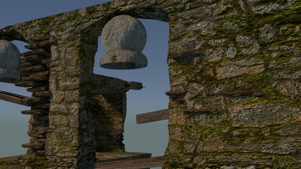 abandoned church 3D model