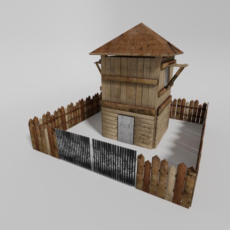 medieval building asset 3D