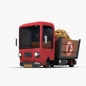 cartoon truck car 3D model
