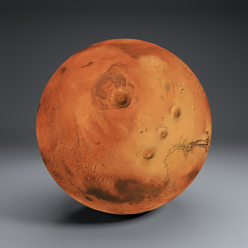 3D model mars 8k globe