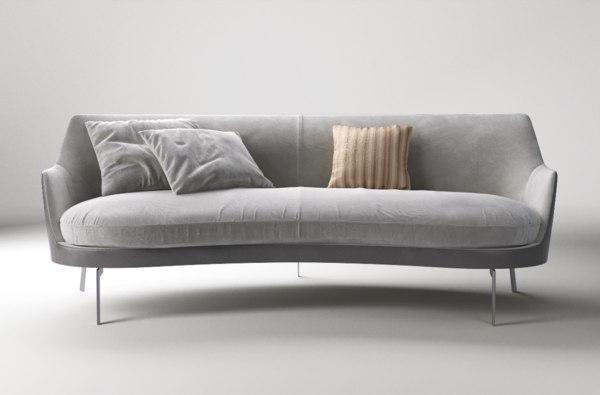 flexform guscio sofa 3D model