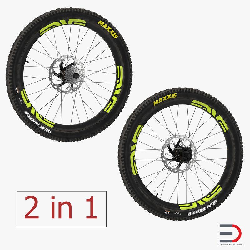 bicycle wheels 3D model