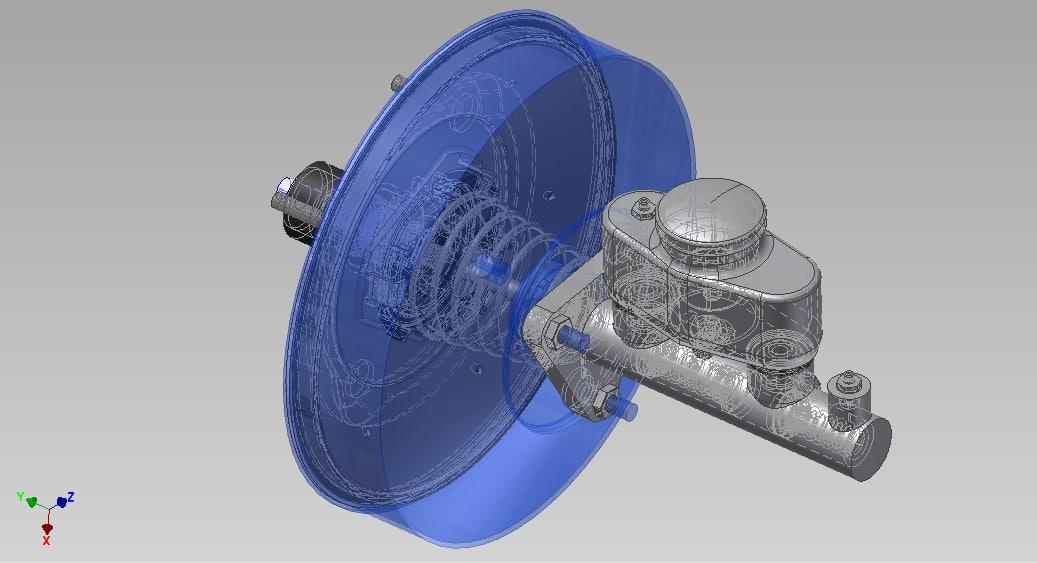 brake master cylinder 3D