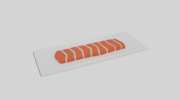 salmon fillet 3D