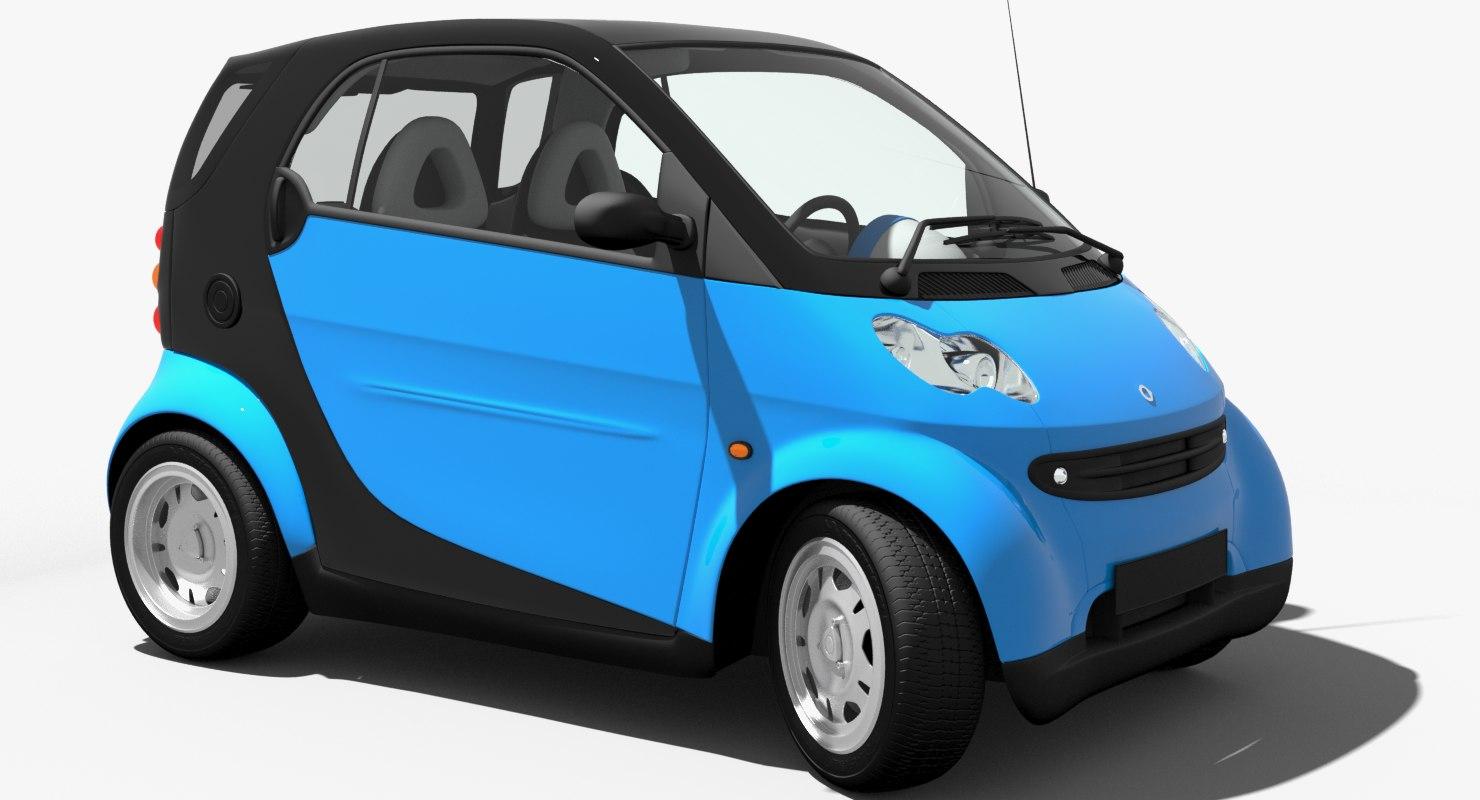 3D smart fortwo model